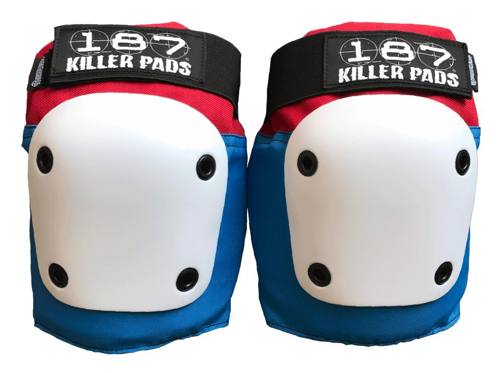 187 fly knee pads - Red/ White/Blue
