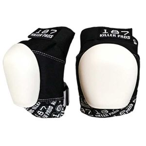 187 pro knee pads Black/White