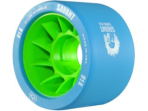 Atom Savant Derby Wheels - Blue 91A