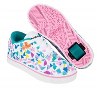 HEELYS LAUNCH WHITE/TEAL/MULTI