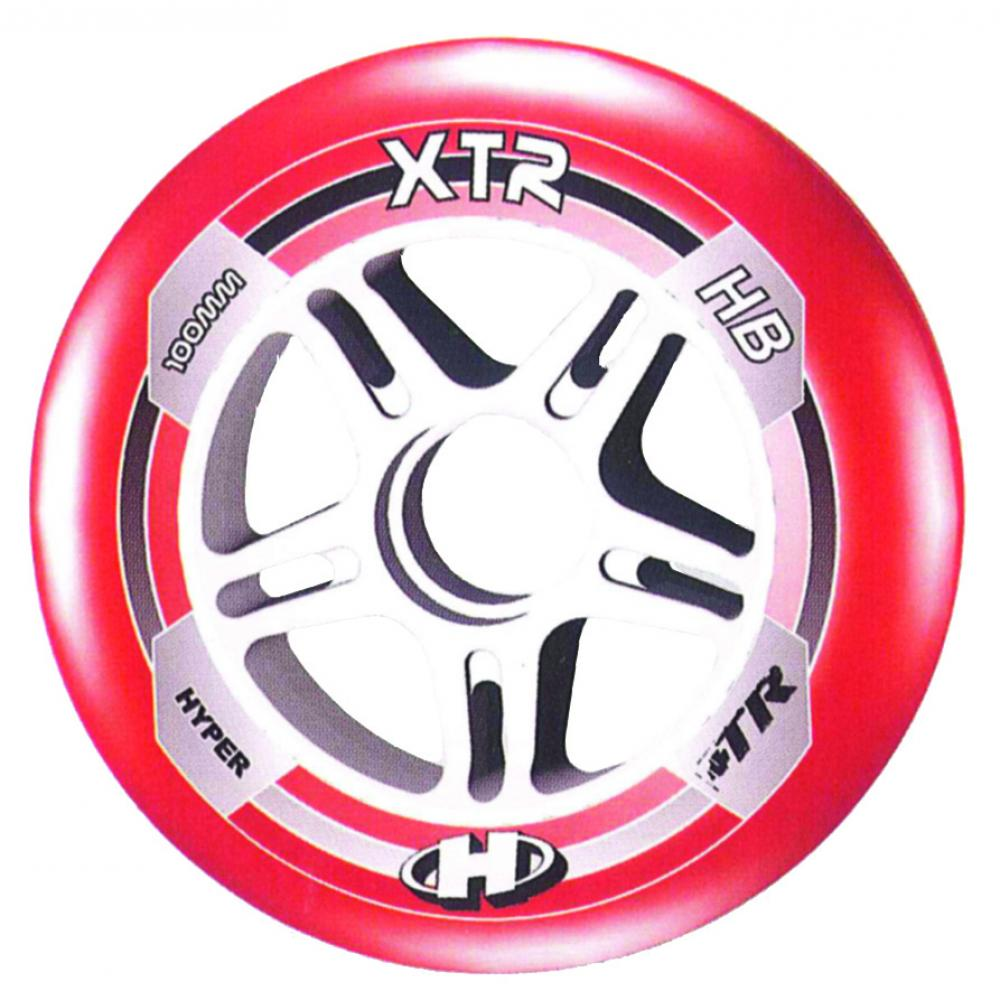 Hyper Rec Inline Wheels XTR red 84mm or 80mm 84a