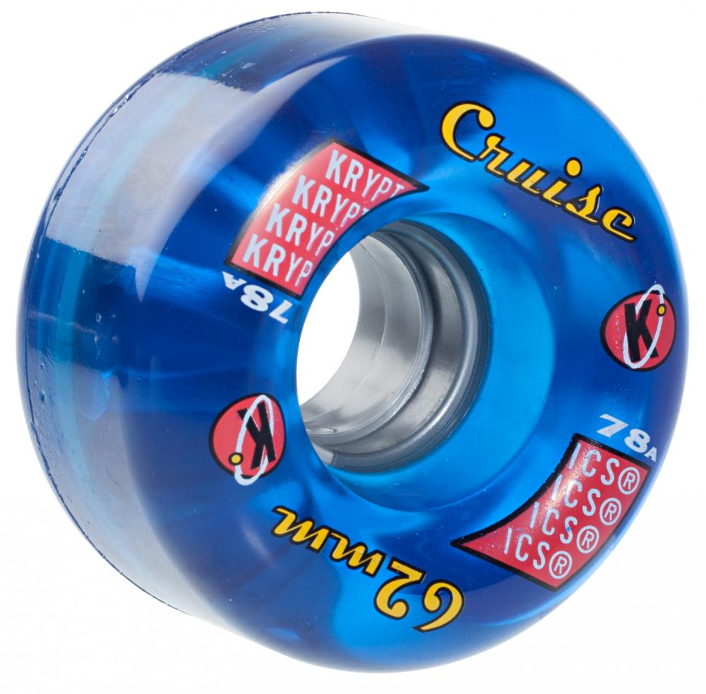 Kryptonics Cruise 62mm wheels- Clear Blue
