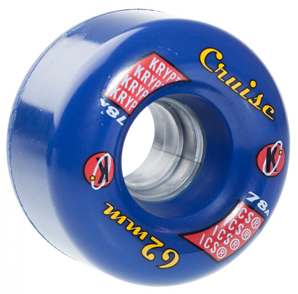 Kryptonics Cruise 62mm wheels- Solid Blue