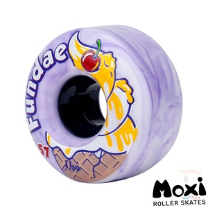 Moxi Fundae wheels- Lavender 57mm x 92a