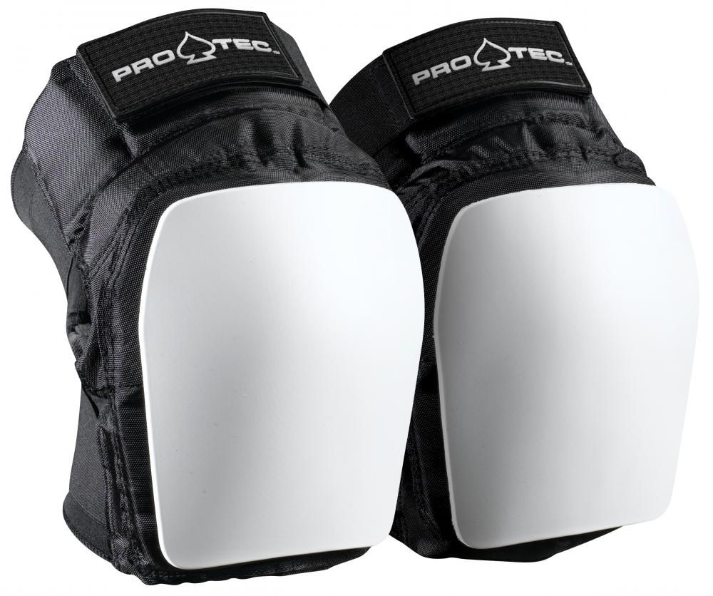 pro tec park knee pads black white