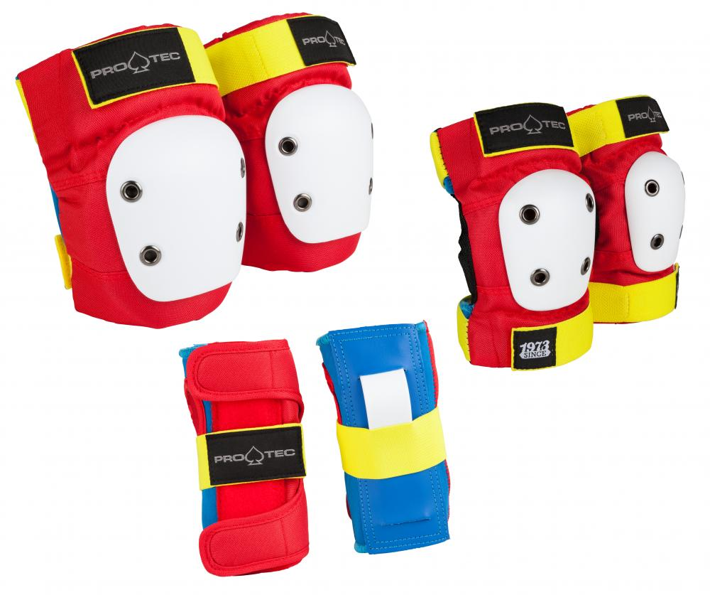 Pro-Tec Street Gear Junior 3-Pack Pad Set Retro