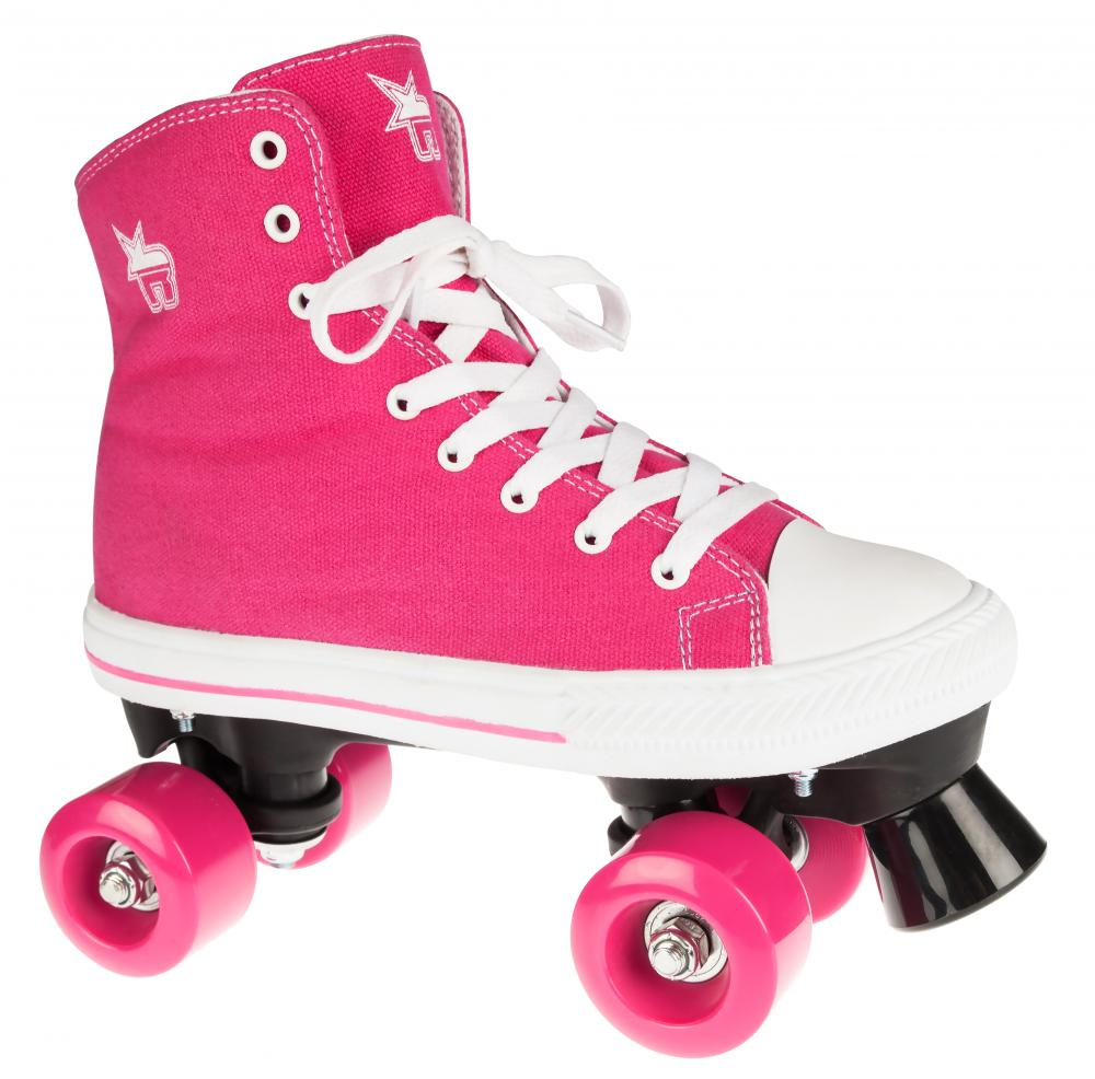 Rookie Rollerskates Canvas High -Pink
