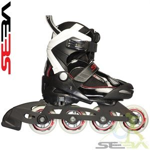Seba '14 JuniorAdjustable Black  Skates 11-13.5