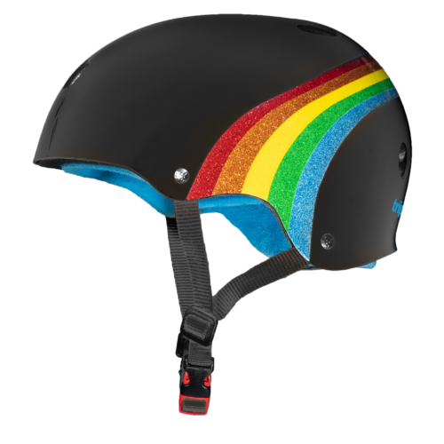 Triple 8 Sweatsaver Rainbow sparkle BLK