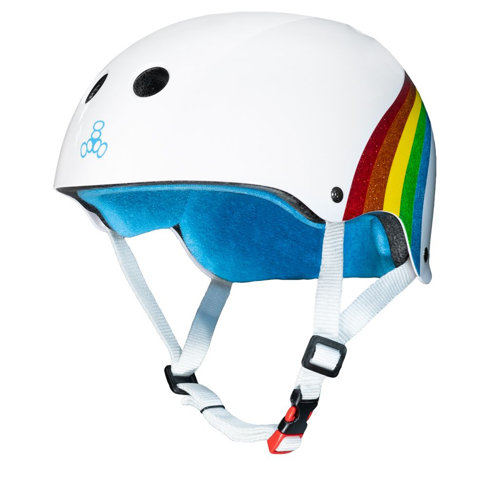 Triple 8 Sweatsaver Rainbow sparkle White